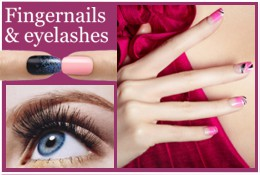 Artificial fingernails eyelashes