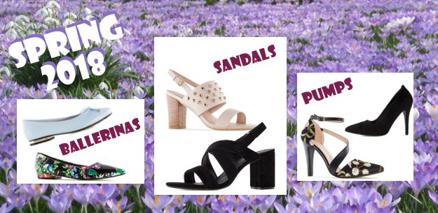 New wonderful Sandals, Ballerinas, Peeptoes and Pumps - Springtime 2018