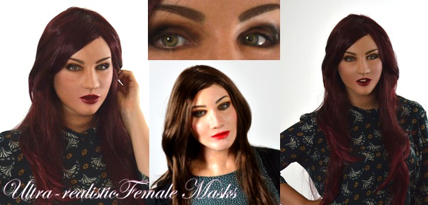 Ultra realistic female silicone masks